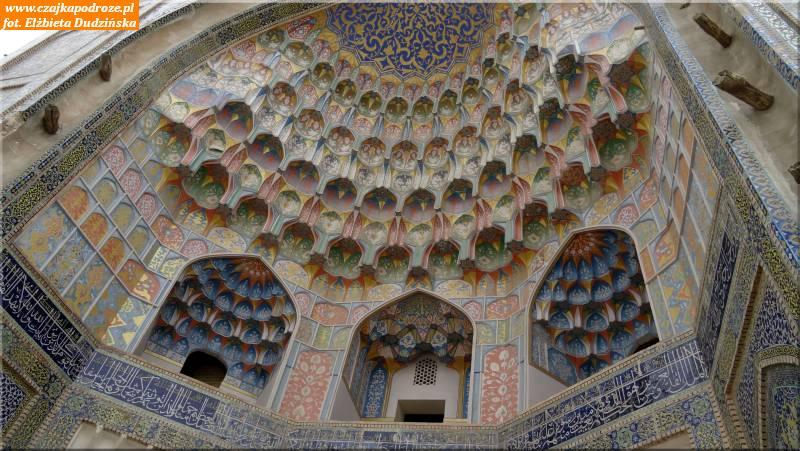 23. Buchara - stalaktytowy portal Medresy Abdulaziz -Chana