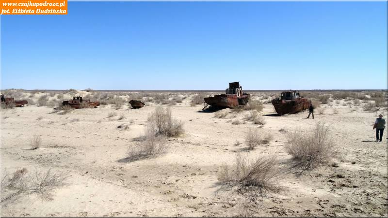 6. Cmentarzysko statków nadnie Morza Aralskiego