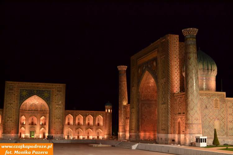 Najpiękniejsze miejsce wUzbekistanie - plac Registan wSamarkandzie