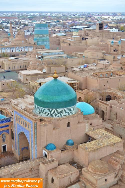 Widok naChiwę znajwyższego minaretu wUzbekistanie