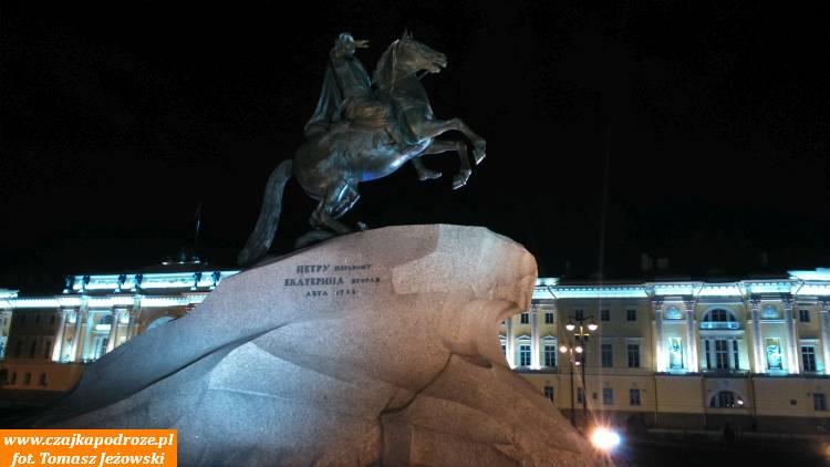"""Pomnik Piotra I- tzw. """"miedziany jeździec"""""""