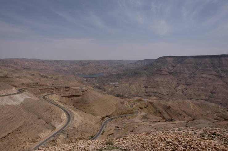 Takie widoki podziwialiśmy wdrodze zMadaby doAl-Karak.
